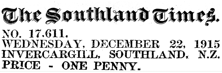 The Southland Times masthead